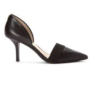 NIB Michael Michael Kors Black Leather Wendy Pump